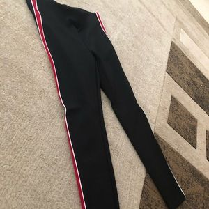 Zara tuxedo striped leggings